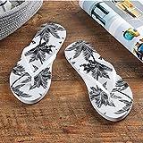 WDDNTX Sandali Moda Donna Beach Flip Flop Albero di Cocco Pattern Moda Estate Signore Pantofole Comode Scarpe Donna Home Page Appartamento Sandali,37