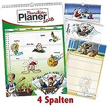 Familienplaner / Familienkalender 2018 im XXL-Format mit 4 Spalten, 29,7cm x 44cm - Wandkalender inkl. Feiertage, Ferientermine und Kalendervorschau 2019