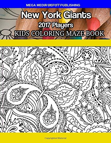 New York Giants 2017 Players Kids Coloring Maze Book por Mega Media Depot