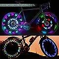 Tagvo Fahrrad-Rad-Speichen-Licht, wasserdichte USB-Angetriebene Fahrrad-Rad-Lichter 14 LED ultra helle Radfahren-Speichen-Lichter kühle Sicherheits-Fahrrad-Reifen-Zusätze --30 Muster-Änderungen, Hallo