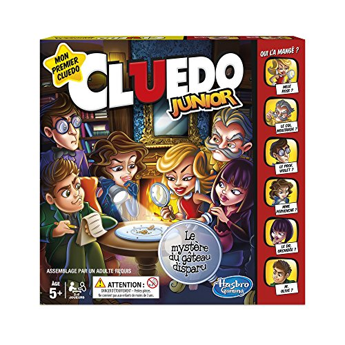 Hasbro- Autre Jeu de Societe Cluedo Junior - Version française, C12931010, Norme