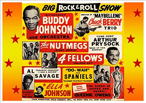 the-big-rock-roll-show-with-buddy-johnson-chuck-berry-fantastic-a4-glossy-art-print-taken-from-a-vin