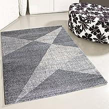 Mynes Home UK Alfombra Gris Patrón de triángulo Salón Dormitorio Moderna Pequeña ...
