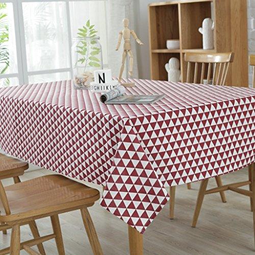 DONG 2 Meter (140x200cm) Polyester Waschbar Tischdecke Fleckresistent Schmutzabweisend Hochzeit Restaurant Party Tischdecke (Farbe : Rot)