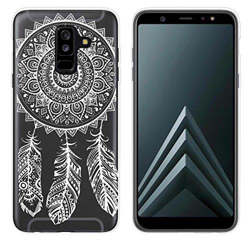 yayago Hülle für Samsung Galaxy A6+ 2018 [A6 Plus 2018] Silikon Schutzhülle Hülle Case Backcover Tattoo Ornament Spring Design transparent Tasche