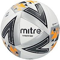 Mitre Unisex Ultimatch Plus Max Match Football, White/Silver/Orange, Size 5