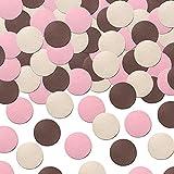 Simplydeko Table-Confetti Mix | Konfetti aus Papier (Party, Hochzeit, Deko, Hochzeitsdeko, Konfeti in Pastell) Wunderschönes Konfetti (Rosa/Braun)