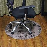 lililili Pvc-matte für teppiche,Büro-stuhl-matte für teppichböden,Stuhl schreibunterlage für teppich -C 100x120cm(39x47inch)