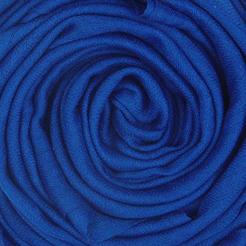Echarpe en cachemire Feel Wool Silk Femmes Hommes Unisexe Hiver Pashmina écharpe chaude par KASHFAB (Kashmir) Persan Bleu