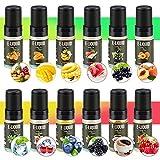 RenFox 12 X 10ml E-Liquide pour Cigarette Electronique Liquide sans Nicotine ni Tabac avec 50% VG 50% PG de Fruits, Vape E Liquide Ni Tabac & Super Forte Saveur & Ingr dients de Haute Qualit ¡