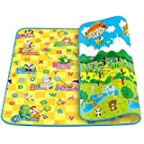 Sevia Double Sided Water Proof Baby Mat Carpet Baby Crawl Play Mat Kids Infant Crawling Play Mat Carpet Baby Gym Water Resistant, Set of 1(Color and Design May Vary) 120 x 180Cm