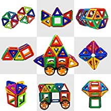 Magtimes Construction Toys Building Blocks Educational Toys with 40 PCS, Construction Set Educational Stacking Toys for Toddlers and Adults by Magtimes