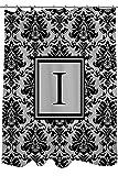 Telecharger Livres Manuel Woodworkers et Weavers Rideau de douche ornee d un Monogramme Lettre I Noir et gris Damas (PDF,EPUB,MOBI) gratuits en Francaise