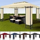 Pavillon 3x4m Gartenpavillon Festzelt Paryzelt Gartenzelt Eventpavillon Creme