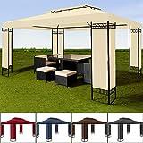 Luxus Pavillon 3x4m Gartenpavillon Festzelt Paryzelt Gartenzelt Eventpavillon Creme wasserabweisend