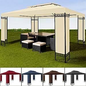Tonnelle de jardin crème - 3x4m - Pavillon de réception ELDA - Tente
