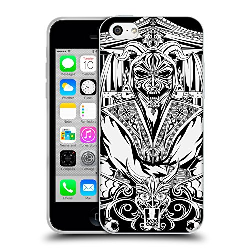 Head Case Designs Shogun Masque Du Diable Japonais Blanc Et Noir Étui Coque En Gel Pour Apple iPhone 6 / 6s Ninja