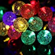 Light-up 30 LED 19.7ft Waterproof Portable Indoor Outdoor Solar Fairy String Lights for Bedroom Garden Deck Party Christmas Decoration