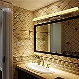 Lampada LED in acciaio inox di alta qualità per lo specchio, impermeabile, antiappannamento, per il bagno, lampada moderna, semplice lampada da parete, Warm Light, 35.0*2.8*1.6 in / 20W 20.00 watts