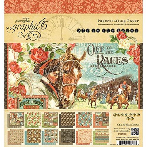 Graphic 45Off a Las Carreras 8x 8Bloc de Papel