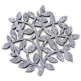 Dulce Cocina Baum Polyester Filz Untersetzer Set von 6 - Home/Haus Dekorationen - Gute Drinks saugfähig - Grau