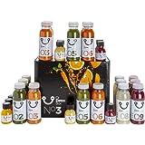 DrDetox Box Dieta de Desintoxicación 3 Dias - 27 Zumos Extractos frios, Purificadores, Adelgazantes, Drenantes, manual incluy