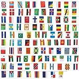 Juvale - Juego de 100 banderas de países diferentes, banderas internacionales del mundo, decoración de fiesta, varios colores, 24,3 m de longitud, cada bandera mide 13,2 x 23,3 cm