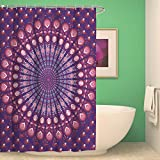 BKPH Indische Mandala Mehltau Resistente Antibakterielle Schlafzimmer Duschvorhang Liner Wasserdicht mit 12 Haken, G, 150 * 180cm