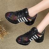 PENGFEI Zapatos De Baile Jazz Deportes Zapatillas Botas Primavera Y Verano Medio Talón Respirable...