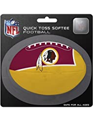 NFL Washington Redskins Kids Quick Toss Softee Football, Red, Small by Rawlings