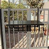 ChuanHan Tableau Balcon Suspendu Suspendu Pliant Modern Family Home Bar Tenture Murale Bureau Loisirs Ordinateur de Bureau, 77 * 40cm, Noir