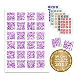 24 Sticker with QR Code For Every Job or Text. Code with Rake for finding the right Door Chens – Advent Calendar QR-Codes violett