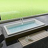 Rechteckige Design Badewanne aus Acryl - Maße: 1700 x 750 x 475 mm