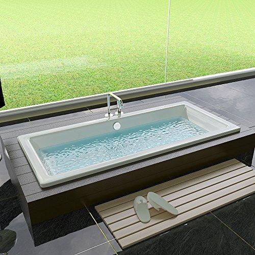 Diseño acrílico bañera 1700X 750X 475Mm Rectángulo bañera