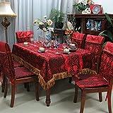 Brokat rot Tischdecke/ Hochzeit Brokat Tischdecken/Tischdecke decke/Tischdecken/ black Flower reichen Tischdecke-A 110x110cm(43x43inch)