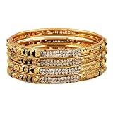 Youbella Precious Gold Plated Bangle Set For Women (2.4)