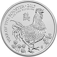 Lunar Moneda de Plata de Ley 2017, diseño del año Gallo