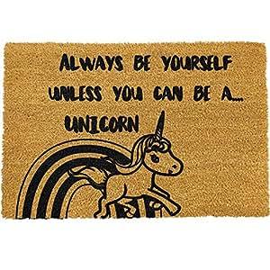 Ckb Ltd 174 Be Yourelf Unicorn Novelty Doormat Unique