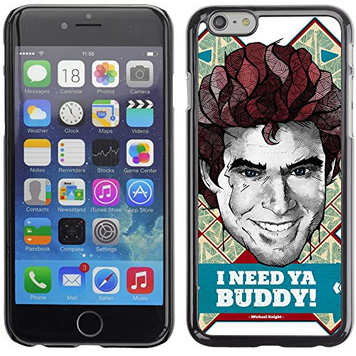 Image of Coverup Center Premium Printing Hard Case Skin Cover for Apple iPhone 6 4.7 Inch - Cool Michael Knight Kitt Illustration
