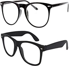 Y&S Round Cateye Women's Men's Boy's Girl's Spectacle Frame (Clear-Cateye-Selfy-Cmbo-002|Clear)