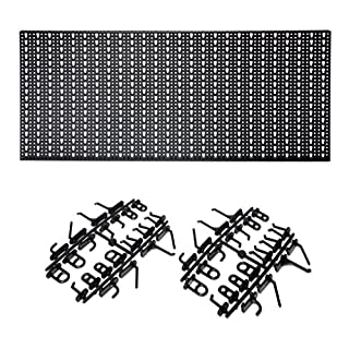 Metal Tool Pegboard Wall Panel, 460 x 980 mm with 44 Hooks