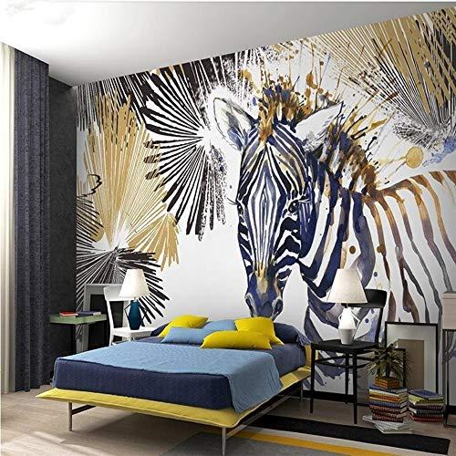 pete Moderne Mode einfache Linie Aquarell Zebra cool TV Hintergrund Wand Papel de Parede, 225 * 336 cm ()