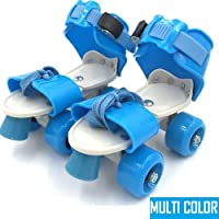 Famous Quality Roller Skates Adjustable Inline Skating Shoes with School Sport (Multicolour, 4-12 Years)