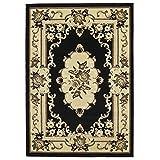 HomeLinenstore tradizionale a quattro vie legato design di alta qualità durevole Tufted tappeti/moquette tappeti, nero–120x 170cm