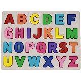 KanCai Alphabet Puzzle en Bois ABC Lettres Apprendre Les Lettres Jouet éducatif pour Les Tout-Petits et Les Enfants (Alphabet