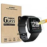 AKWOX [4 Unidades] Protector de Pantalla para Fitbit Versa, [9H Dureza] Cristal Vidrio Templado para Fitbit Versa Cristal Tem