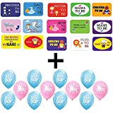 PARTY PROPZ BABY SHOWER COMBO (PHOTOBOOTH+25PCS BALLOONS)/ BABY SHOWER DECORATION/ BABY SHOWER PHOTOBOOTH PROPS