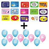 #7: PARTY PROPZ BABY SHOWER COMBO (PHOTOBOOTH+25PCS BALLOONS)/ BABY SHOWER DECORATION/ BABY SHOWER PHOTOBOOTH PROPS