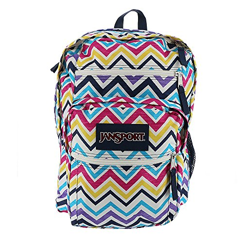 JanSport Mujer Classic Mainstream Big Student – Mochila Multi Saucy Chevron