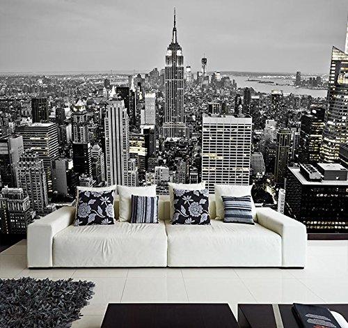Fotomural Vinilo Pared Nueva York Blanco y Negro | Fotomural para paredes | Mural | Vinilo Decorativo | Varias Medidas 350 x 250 cm | Decoración comedores, salones, habitaciones.